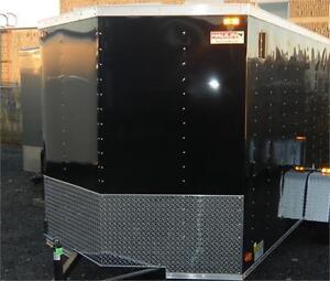 6X12 Tandem V-Nose Cargo Trailer  w/Barn Doors