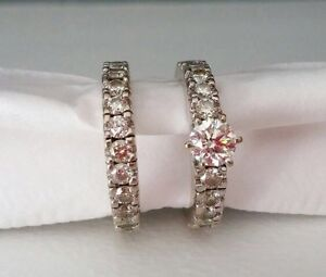 Diamond ring engagement set