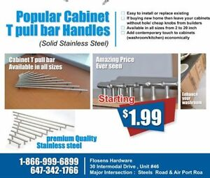 Cabinet Handles | Square Pulls | Bar pulls | SIZES UPTO 36""