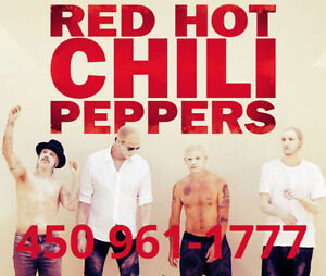 RED HOT CHILI PEPPERS - SECTIONS ROUGES ET PARTERRE !!!