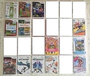 Wii Games : Mario Tennis, Animal Crossing, Kirby Collection...