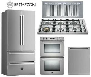 BERTAZZONI: The POWER of STYLE Kitchen APPLIANCE Package