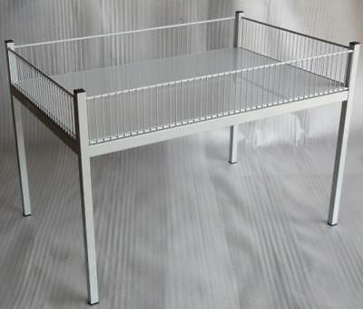 Schlagertisch / Wühltisch 120 x 80 x 80cm RAL 7035