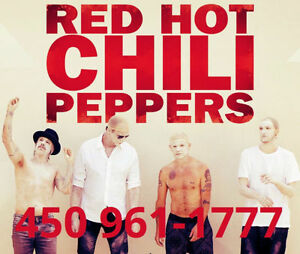 RED HOT CHILI PEPPERS : SECTIONS ROUGES ET PARTERRE !!!