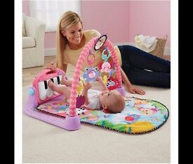 Fisher-Price Kick & Play Piano Baby Gym, Pink - BRAND NEW - UNOPENED