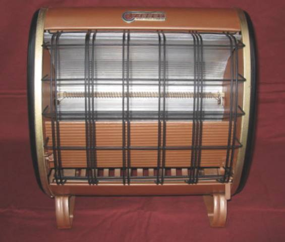 1930s EVERHOT RAY VECTOR ART DECO PORTABLE ELECTRIC HEATER