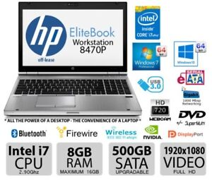 Laptop HP EliteBook 8470P Intel i7 8GB RAM 500GB SATA