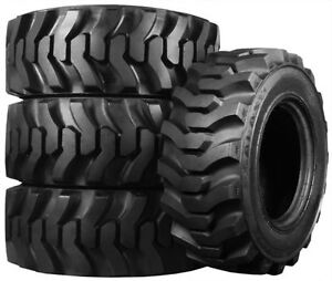 4LEFT NEW TUBELESS 12X16.5 TIRES 12PLY FIT SKID STEER OR BACKHOE
