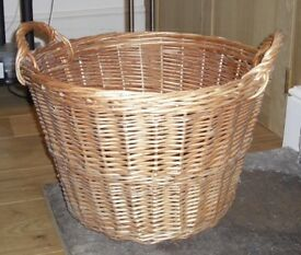 Wicker Basket (useful for storage of toys/logs etc..)