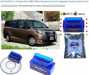 Mini ELM327 V1.5 Supper Mini OBD2 OBD-II Bluetooth Car Auto Diag