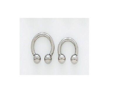 1 Pair Steel Horseshoes 10g 11mm 7/16