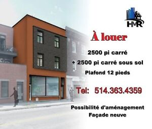 **PRIX INCROYABLE** LOCAL COMMERCIAL HOMA 2500 pc RDC+2500 pc SS