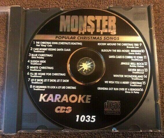 Monster Hits - Karaoke Cd - Popular Christmas Songs #1035
