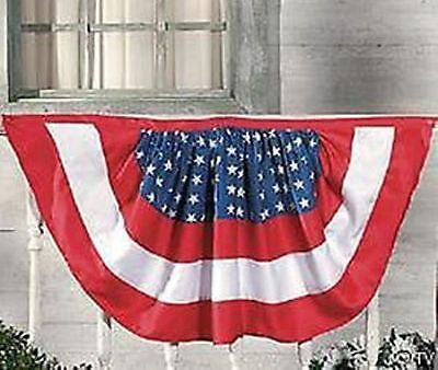 NEW Patriotic American Swag Light Weight Red White & Blue Bunting FLAG Pennant