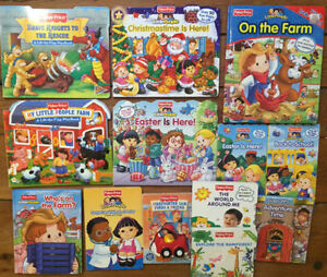 Fisher Price LITTLE PEOPLE Board Books $3 each or all 13 for $25