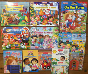 Fisher Price LITTLE PEOPLE Board Books $3 each or all 13 for $30