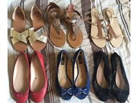 Size 7 Women's Flats x 6 (Only £10!)