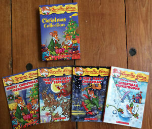 Like New CHRISTMAS GERONIMO STILTON Books - Boxed Set 4 for $15