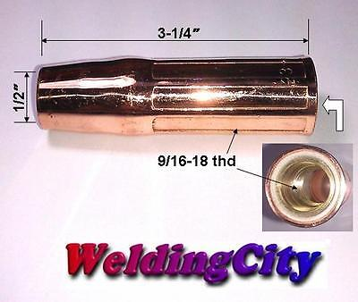 Weldingcity 2 Nozzles 23-50 (1/2) For Tweco Lincoln 200-400a Mig Welding Guns