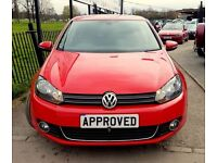VOLKSWAGEN GOLF 2.0 GT TDI 5d 138 BHP FAST AND ECONOMICAL, 4 AVAIL (red) 2010