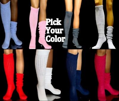 Slouch Knee Socks Thick Warm Fuzzies Pic Color hooters uniform Halloween Costume