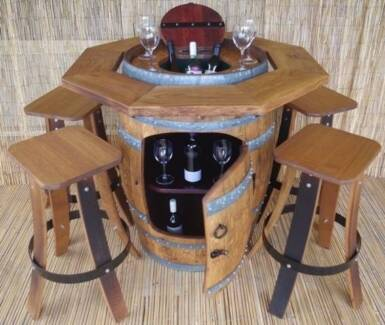 BARREL  SETS / WINE COOLERS / STOOLS /Weekly deliveries