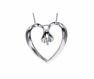 Gorgeous Canadian Diamond Heart Shaped Necklace - MUST GO