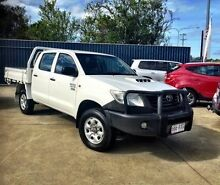 2011 Toyota Hilux KUN26R MY12 Workmate Double Cab White 5 Speed Manual Utility Mackay 4740 Mackay City Preview