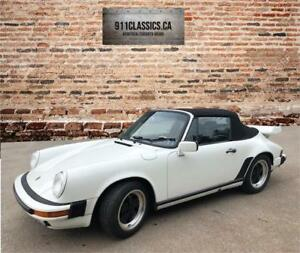 1987 Porsche 911 White Cabriolet-- REDUCED PRICE---