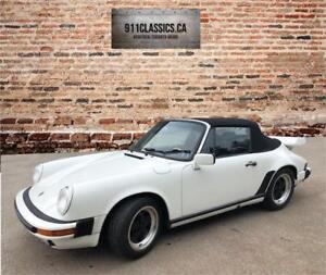 1987 Porsche 911 White Cabriolet