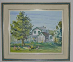 Peinture – Maison de Stoneham, Québec