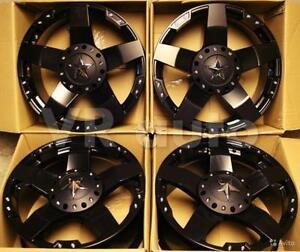 18X9 ROCKSTAR XD1 REPLICAS MATTE BLACK 6 BOLT $1090 A SET!!!
