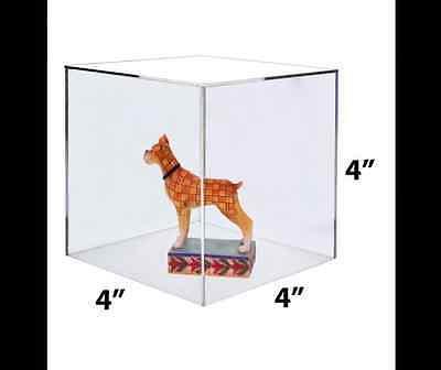 Acrylic Clear 5 Sided Cube Jewelry Riser Display Box 4 X 4 X 4