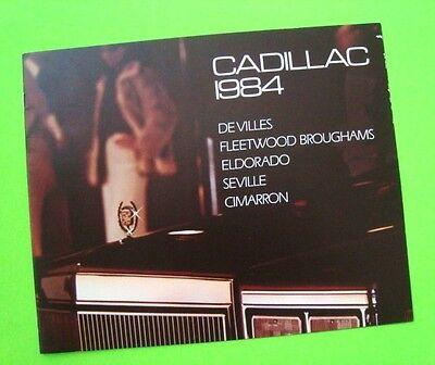 - 1984 CADILLAC DLX BROCHURE w/ ELDORADO CONVERTIBLE 16pgs DeVILLE Seville XLNT