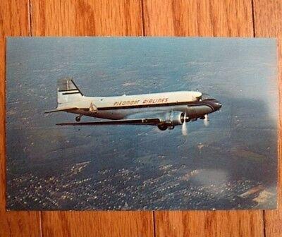 Piedmont Airlines Rare Vintage Postcard Dc 3