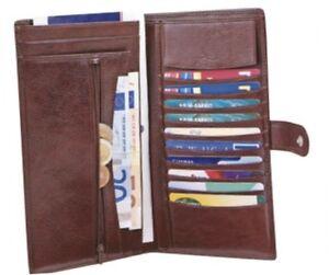 Travel Wallet VIENNA Reise-Brieftasche Leder by ORIENT-EXPRESS neu+ovp