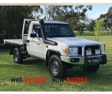 2011 Toyota Landcruiser VDJ79R MY10 Workmate White 5 Speed Manual Cab Chassis Mount Gambier Grant Area Preview