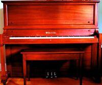 Magnifique piano droit Willis 1925 - bois impeccable