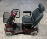 Invacare Auriga 4 wheel scooter with 5A Charger - Red