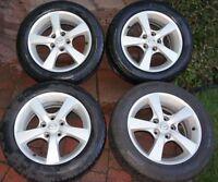 4 Mazda3 Mags d'origion proper+pneus d'ete 205/55R16 neuf