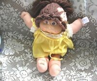 "16"" CABBAGE PATCH BRUNETTE YARN PONYTAIL,ORIGINAL GINGHAM OUTFIT"