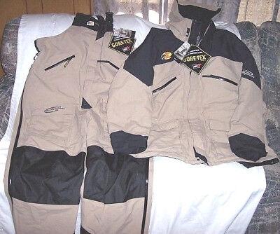 Mens 3X Tall Genuine Goretex Set Rain Jacket Rain Pants Bib Overalls Rain Coat