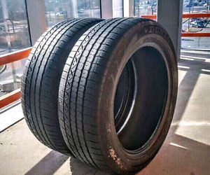 Set of two 235/55/19  Dunlop all season tires