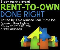 3 day Workshop - Rent-to-Own Done Right - Open to All!