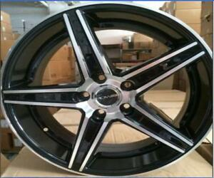 "NEW! 18"" BLACK/mach W/TIRE- MAZDA 3 6 TOYOTA CIVIC VW JETTA GOLF"