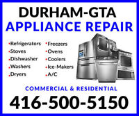 APPLIANCE REPAIRS & MAINTENANCE- ALL MAKES AND MODELS  !