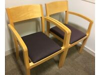 Geiger Wooden Reception / Meeting Room Chairs #184