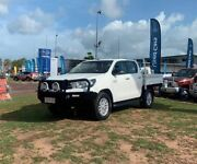 2015 Toyota Hilux GUN126R SR Double Cab White 6 Speed Sports Automatic Utility Berrimah Darwin City Preview