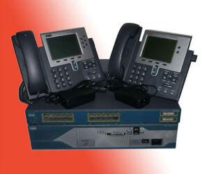 CISCO CCNA CCNP VOICE LAB 2851 CME8.6 3524 POE Sw 2x 7940 IP