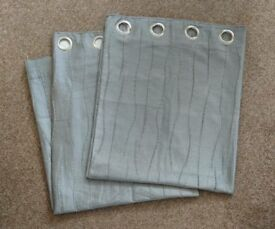 Silver eyelet curtains - excellent condition!